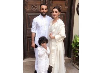 Momal Sheikh loves shooting with her husband